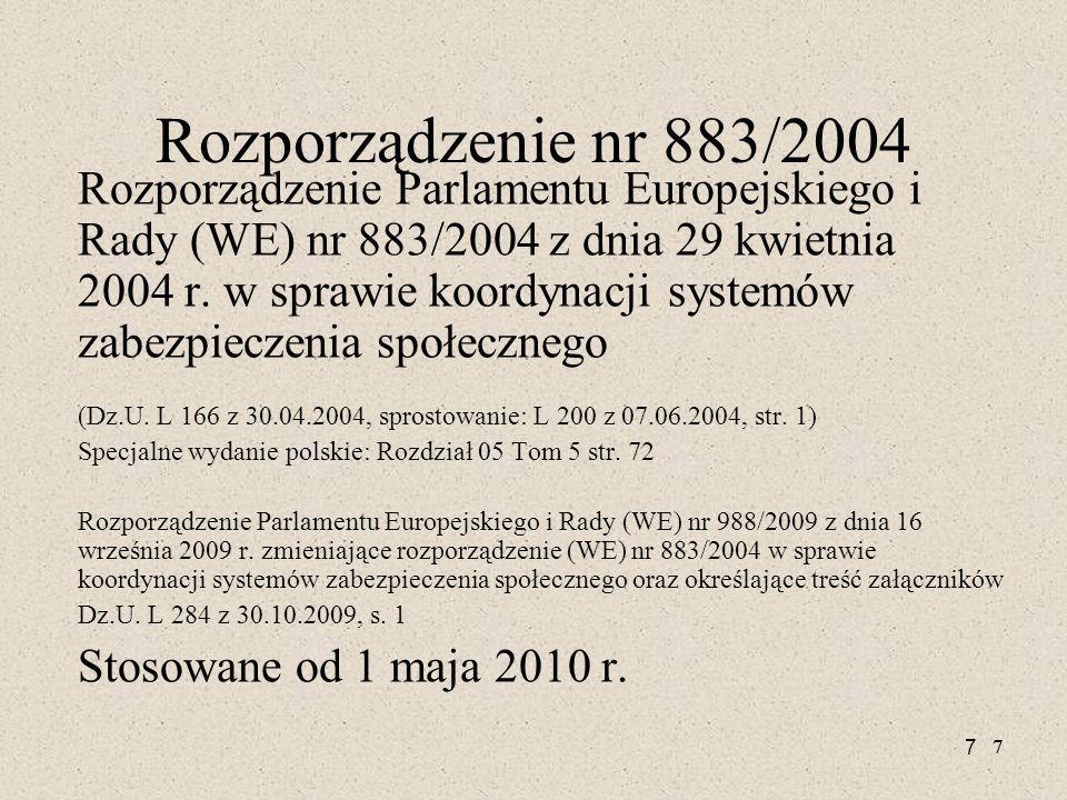 Rozporządzenie nr 883/2004