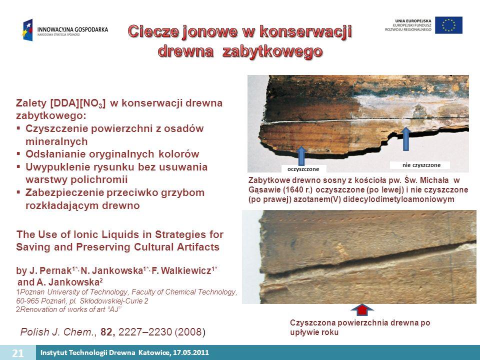 Ciecze jonowe w konserwacji drewna zabytkowego