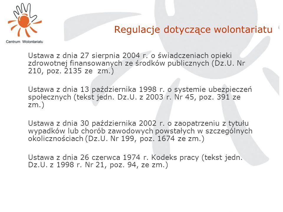Regulacje dotyczące wolontariatu