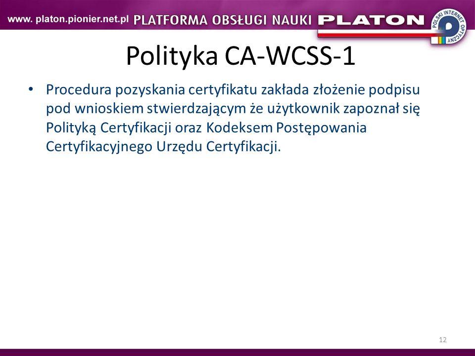 Polityka CA-WCSS-1