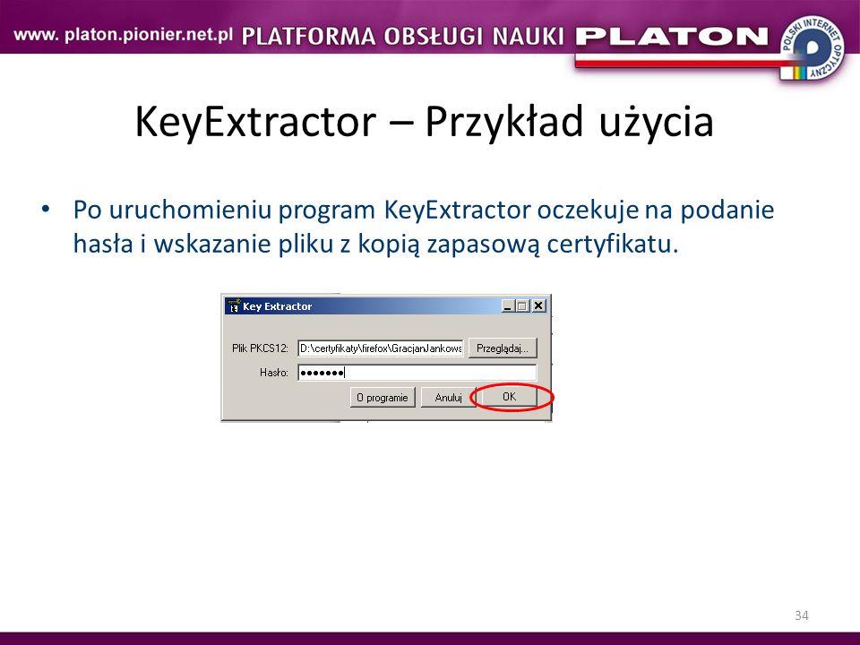 KeyExtractor – Przykład użycia