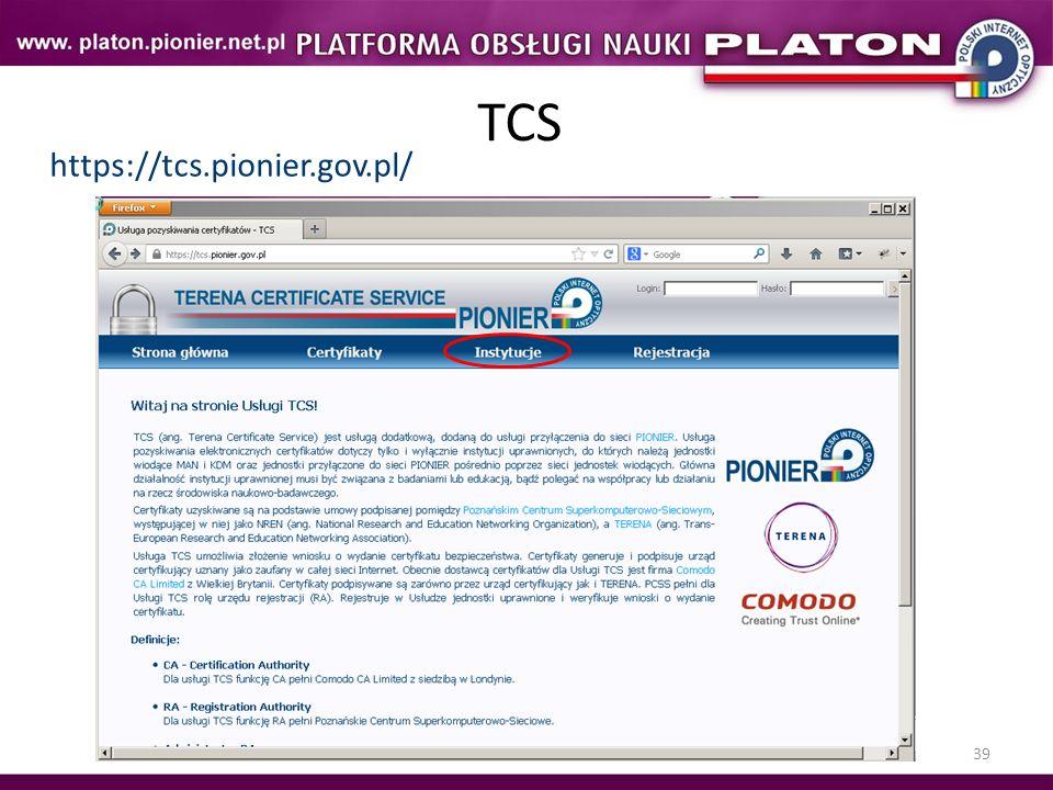 TCS https://tcs.pionier.gov.pl/