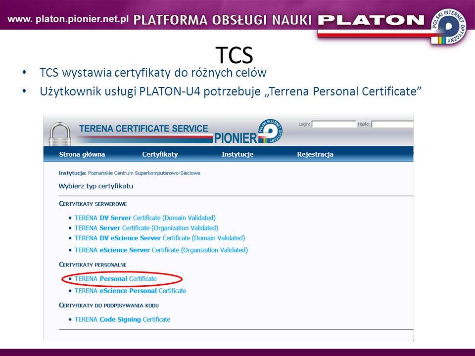 TCS TCS wystawia certyfikaty do różnych celów