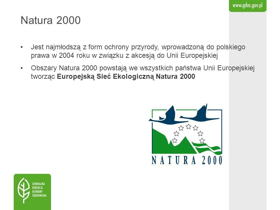 Natura 2000 Jest najmłodszą z form ochrony przyrody, wprowadzoną do polskiego prawa w 2004 roku w związku z akcesją do Unii Europejskiej.