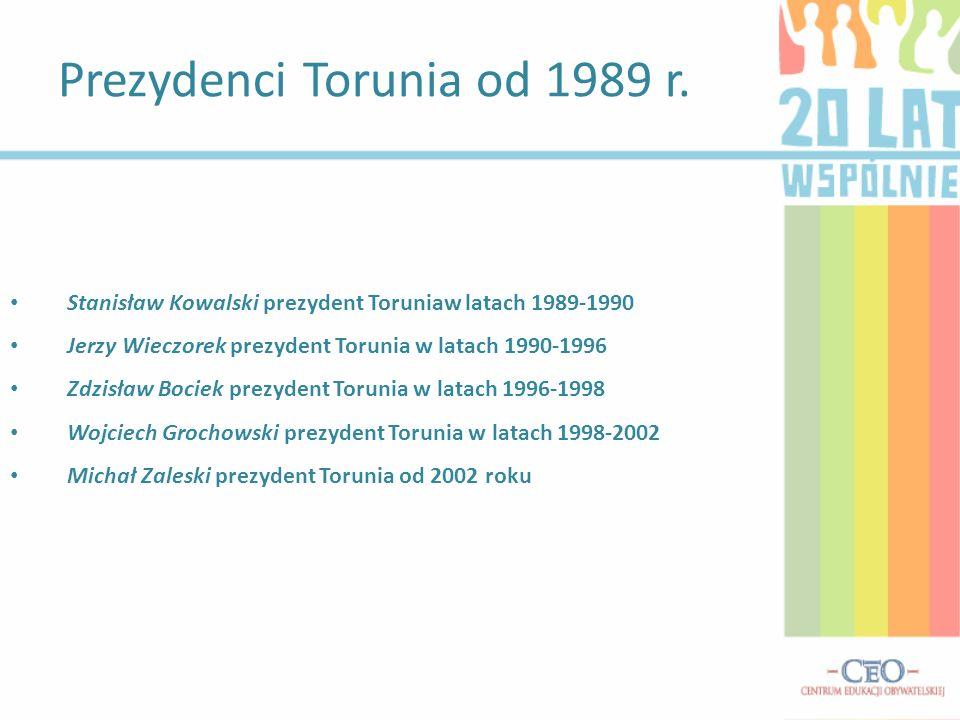 Prezydenci Torunia od 1989 r.