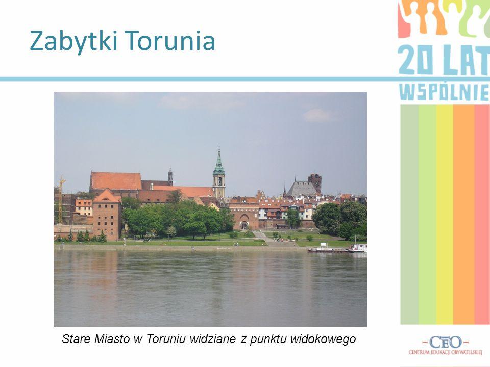 Stare Miasto w Toruniu widziane z punktu widokowego