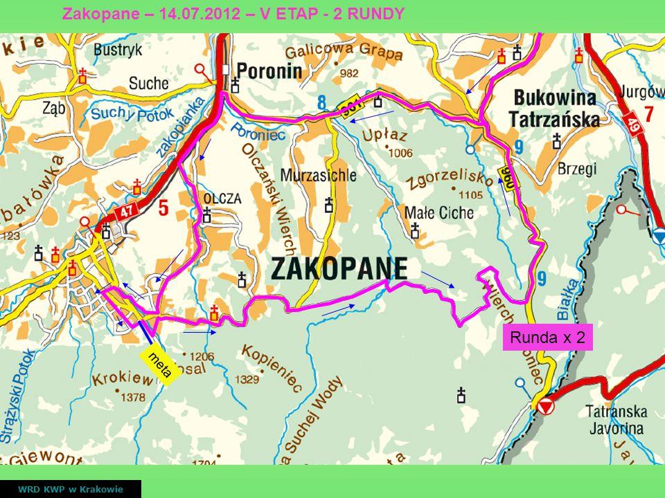 Zakopane – 14.07.2012 – V ETAP - 2 RUNDY