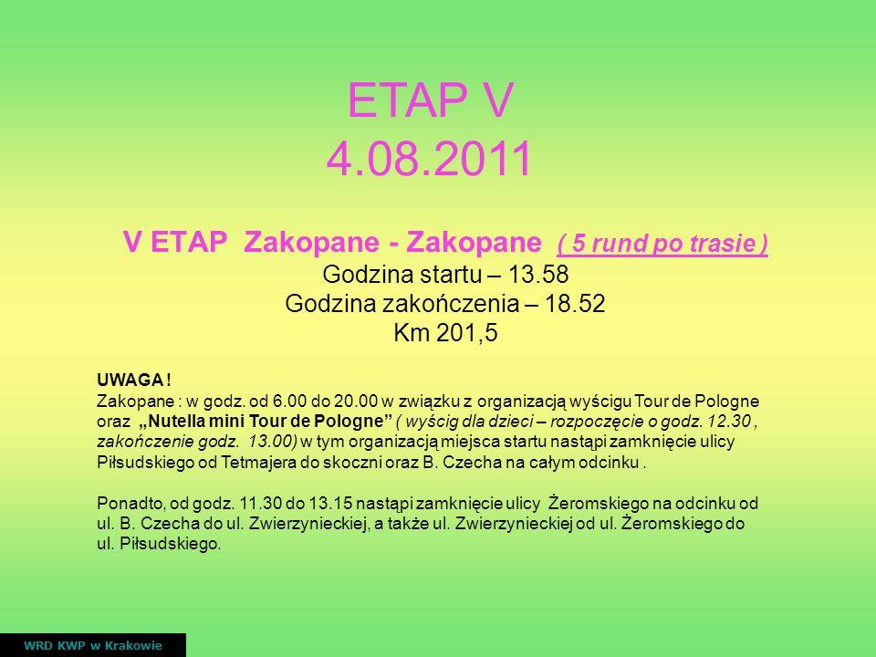 V ETAP Zakopane - Zakopane ( 5 rund po trasie )