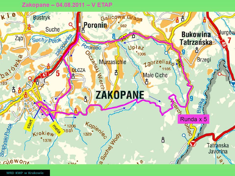 Zakopane – 04.08.2011 – V ETAP Runda x 5 start meta WRD KWP w Krakowie