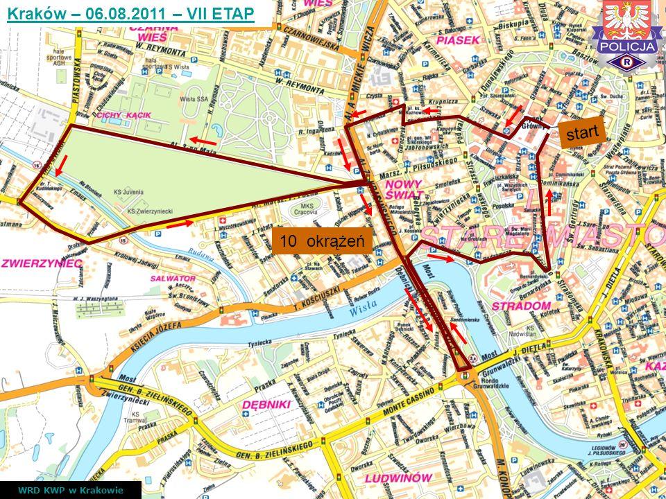 Kraków – 06.08.2011 – VII ETAP start 10 okrążeń WRD KWP w Krakowie