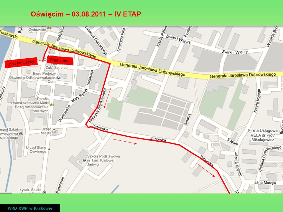 Oświęcim – 03.08.2011 – IV ETAP Start ostry Start honorowy