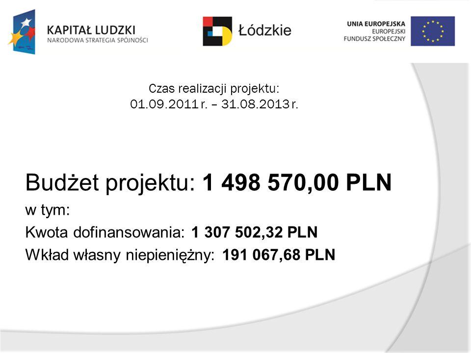 Czas realizacji projektu: 01.09.2011 r. – 31.08.2013 r.