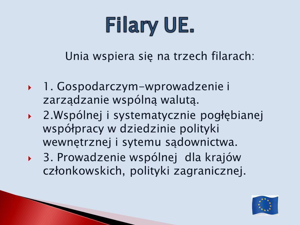 Unia wspiera się na trzech filarach:
