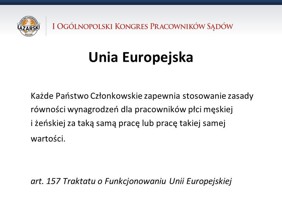 Unia Europejska Każde Państwo Członkowskie zapewnia stosowanie zasady