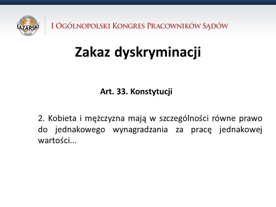Zakaz dyskryminacji Art. 33. Konstytucji