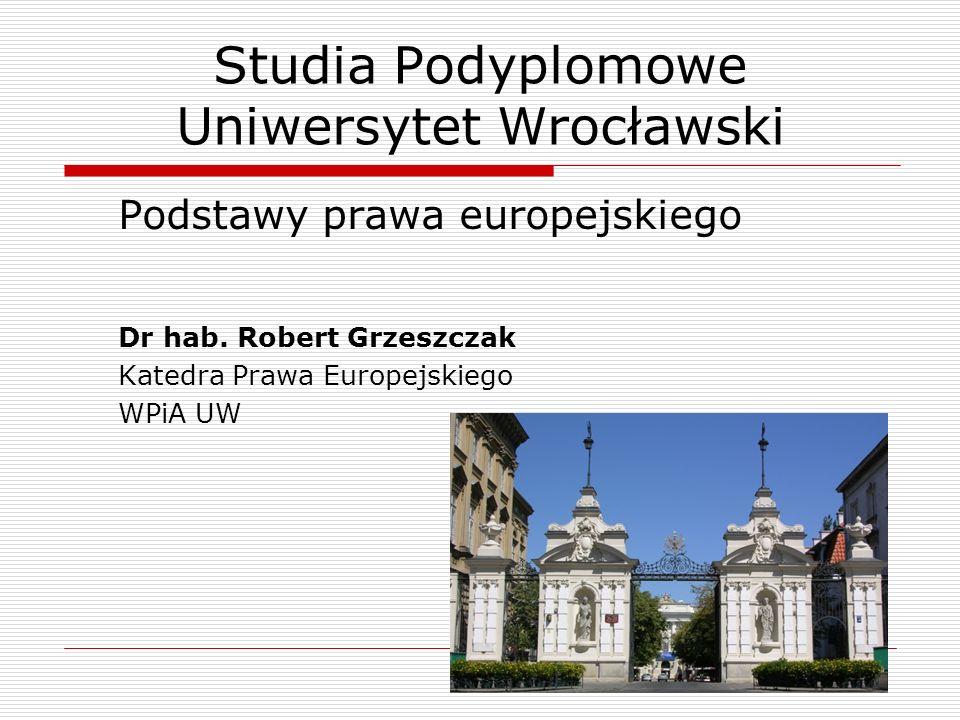 Studia Podyplomowe Uniwersytet Wrocławski