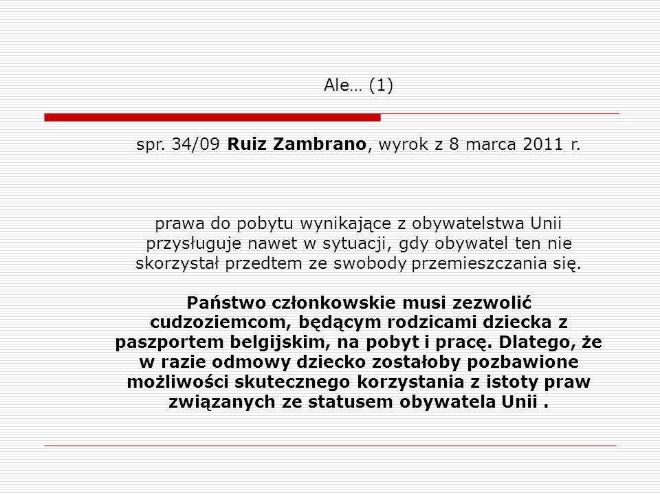 spr. 34/09 Ruiz Zambrano, wyrok z 8 marca 2011 r.