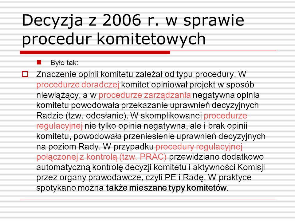 Decyzja z 2006 r. w sprawie procedur komitetowych