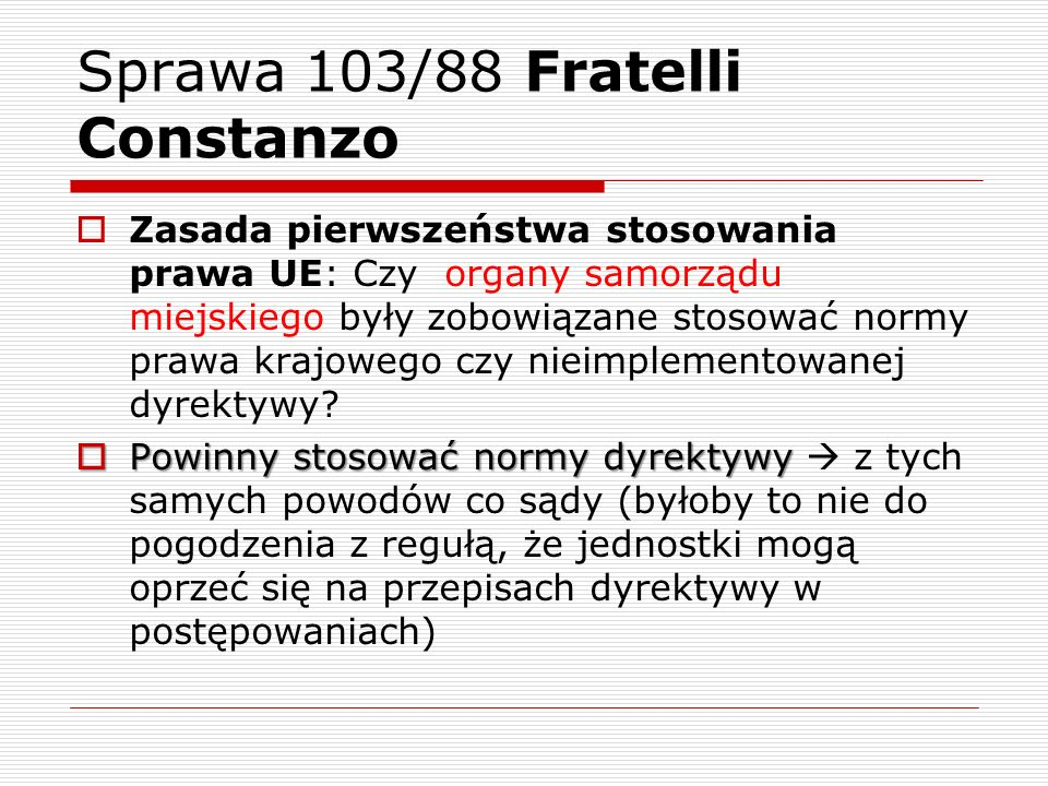 Sprawa 103/88 Fratelli Constanzo