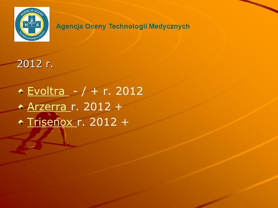 Evoltra - / + r. 2012 Arzerra r. 2012 + Trisenox r. 2012 + 2012 r.