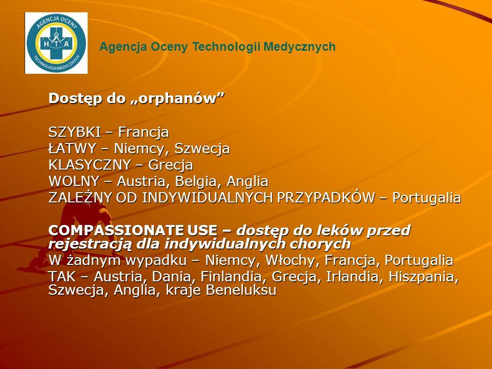 """Dostęp do """"orphanów SZYBKI – Francja ŁATWY – Niemcy, Szwecja"""