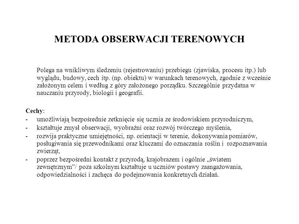 METODA OBSERWACJI TERENOWYCH