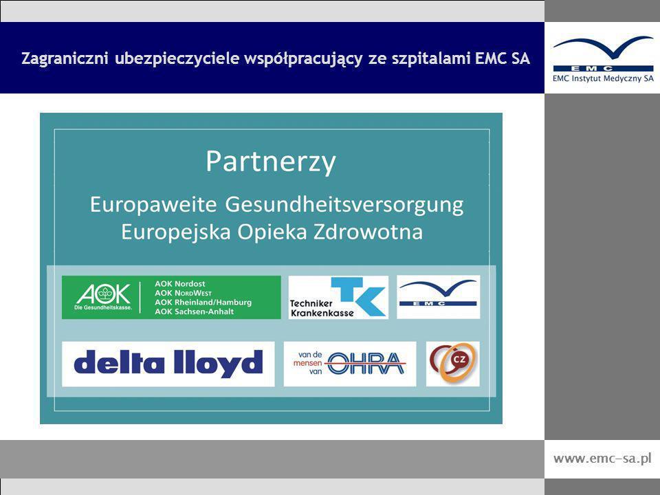 Zagraniczni ubezpieczyciele współpracujący ze szpitalami EMC SA