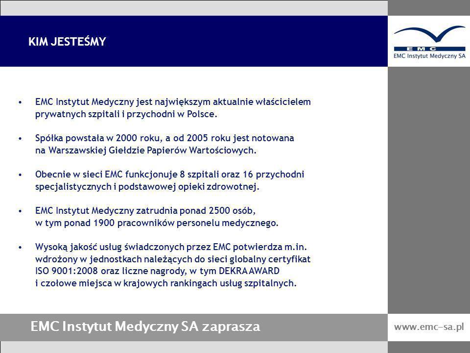 EMC Instytut Medyczny SA zaprasza