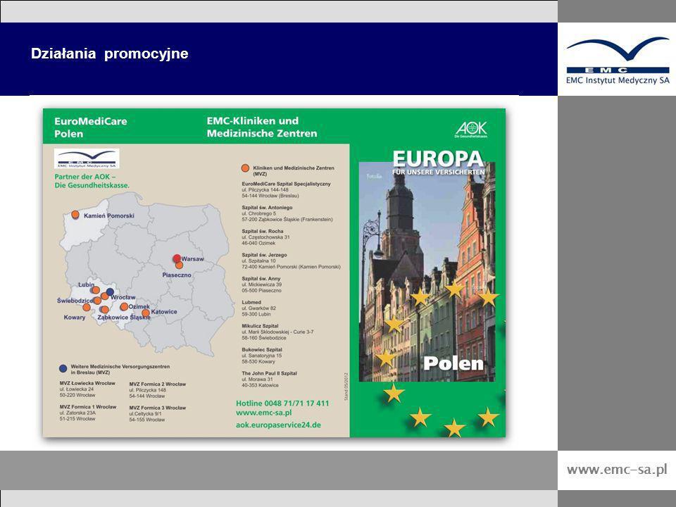 Działania promocyjne www.emc-sa.pl 21