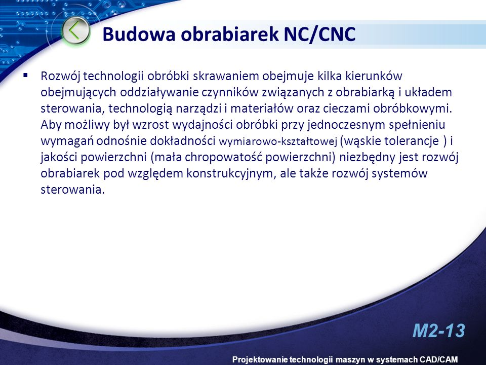 Budowa obrabiarek NC/CNC
