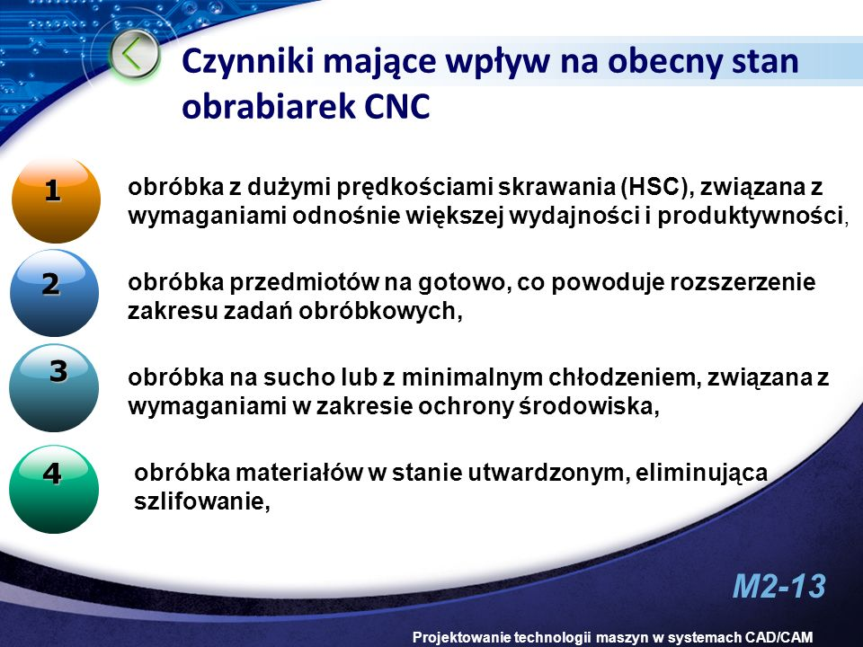 Czynniki mające wpływ na obecny stan obrabiarek CNC