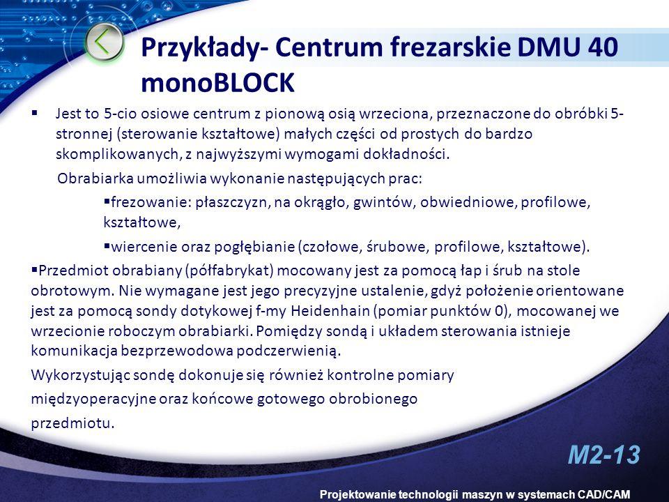 Przykłady- Centrum frezarskie DMU 40 monoBLOCK