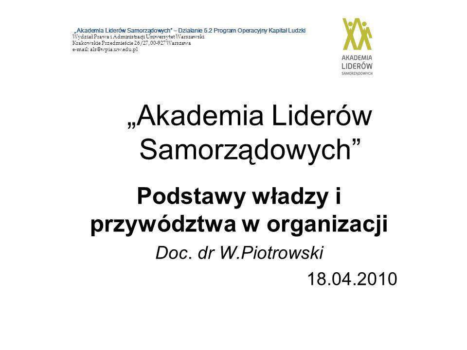 """""""Akademia Liderów Samorządowych"""