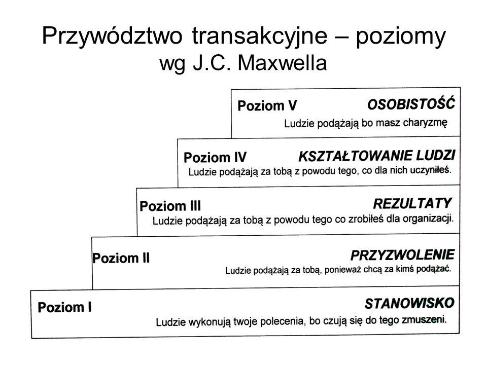Przywództwo transakcyjne – poziomy wg J.C. Maxwella