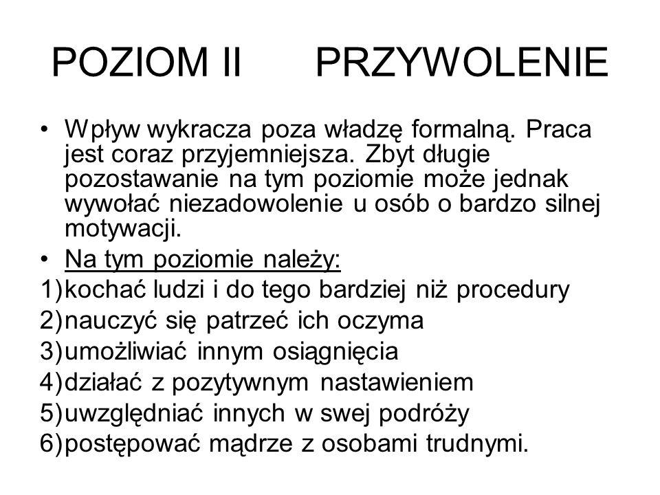 POZIOM II PRZYWOLENIE