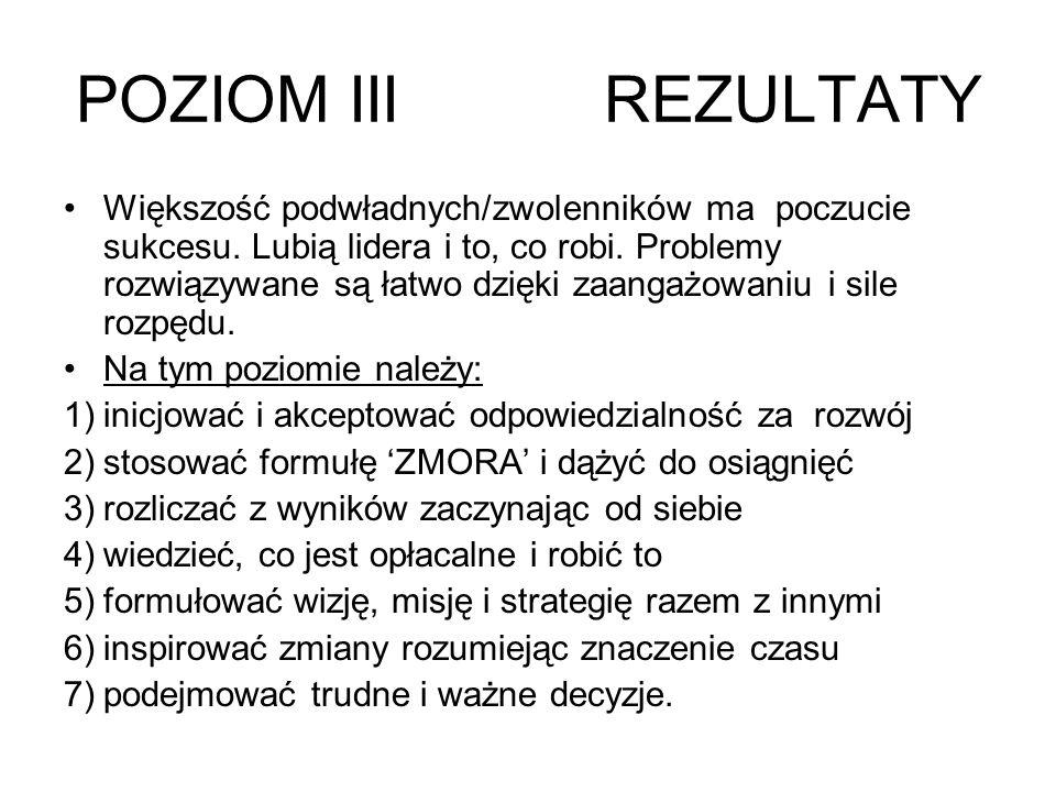 POZIOM III REZULTATY