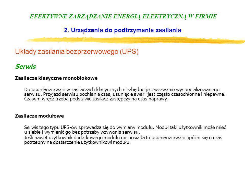 Układy zasilania bezprzerwowego (UPS)