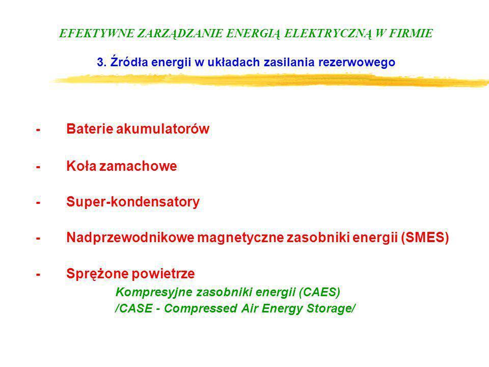 - Baterie akumulatorów