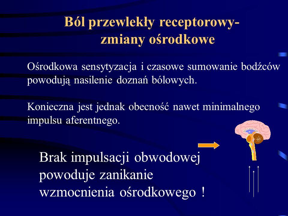 Ból przewlekły receptorowy- zmiany ośrodkowe