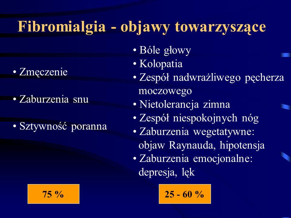 Fibromialgia - objawy towarzyszące