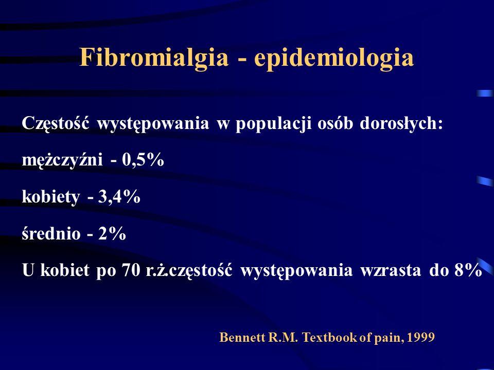 Fibromialgia - epidemiologia