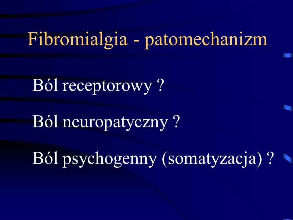 Fibromialgia - patomechanizm