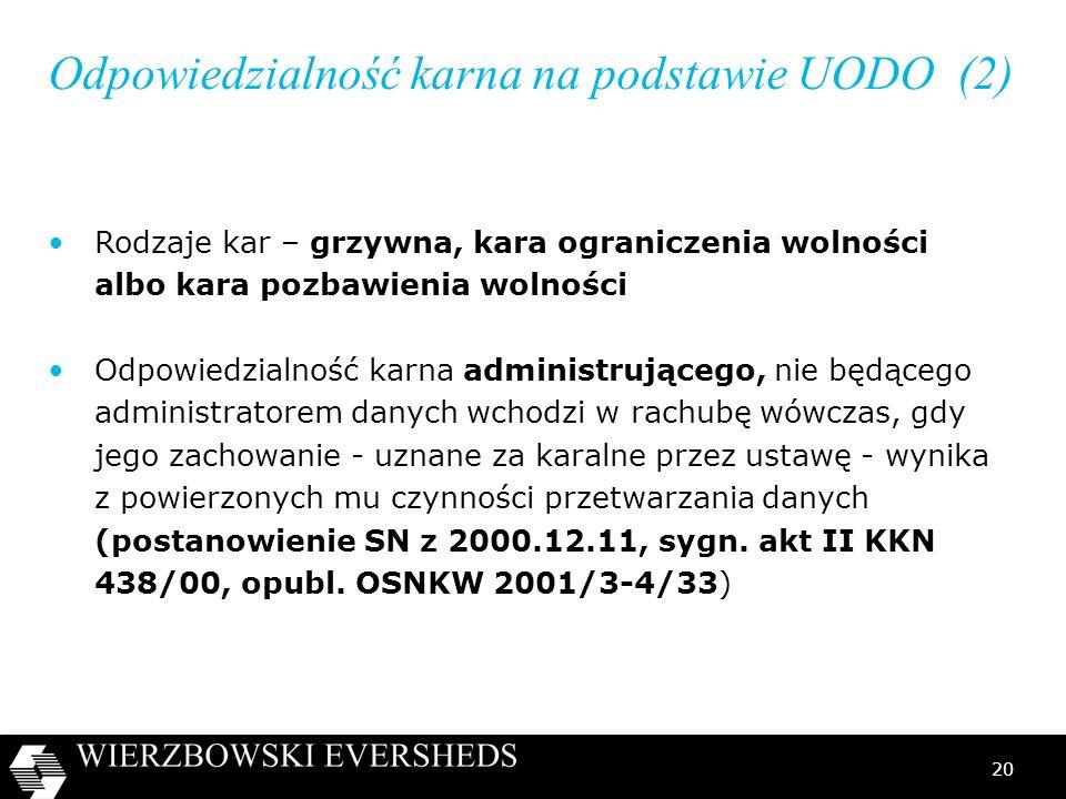 Odpowiedzialność karna na podstawie UODO (2)