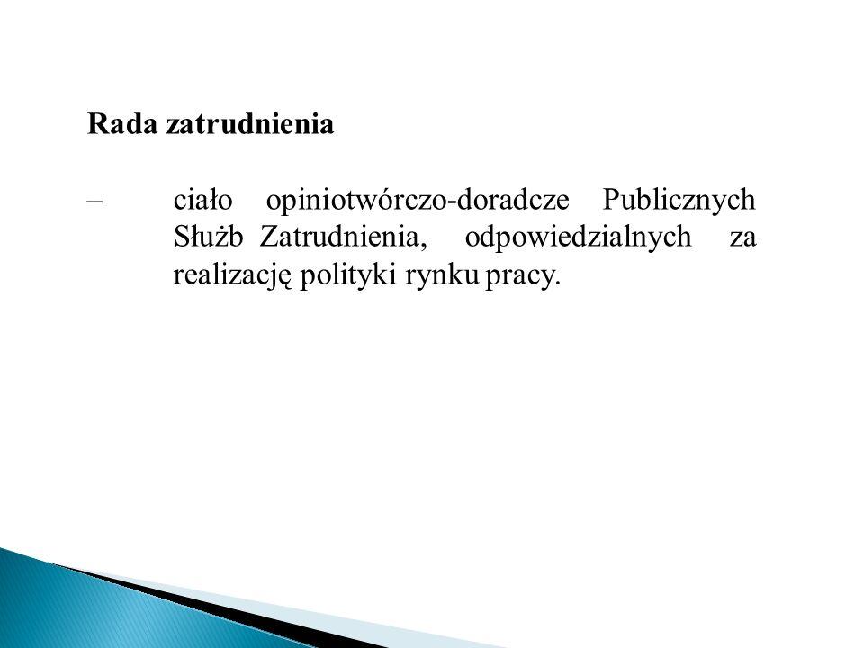 Rada zatrudnienia– ciało opiniotwórczo-doradcze Publicznych Służb Zatrudnienia, odpowiedzialnych za realizację polityki rynku pracy.