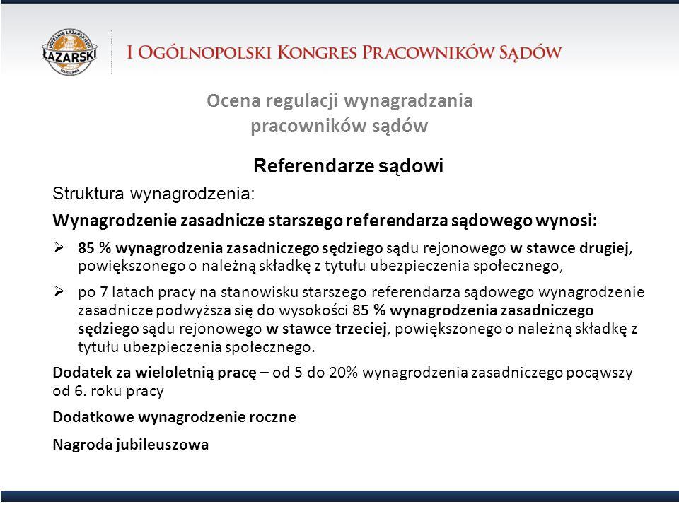 Ocena regulacji wynagradzania pracowników sądów