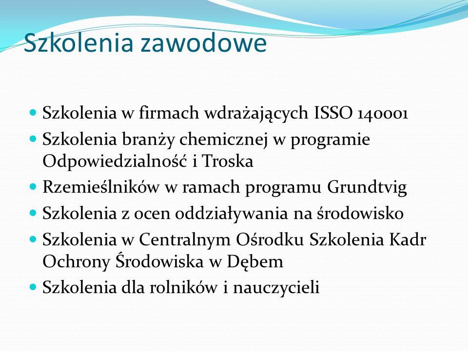 Szkolenia zawodowe Szkolenia w firmach wdrażających ISSO 140001