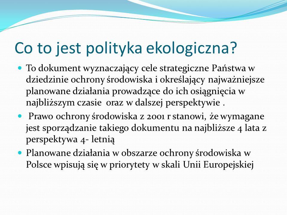 Co to jest polityka ekologiczna