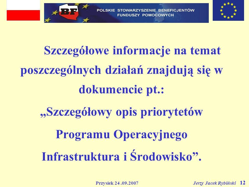 """""""Szczegółowy opis priorytetów Programu Operacyjnego"""
