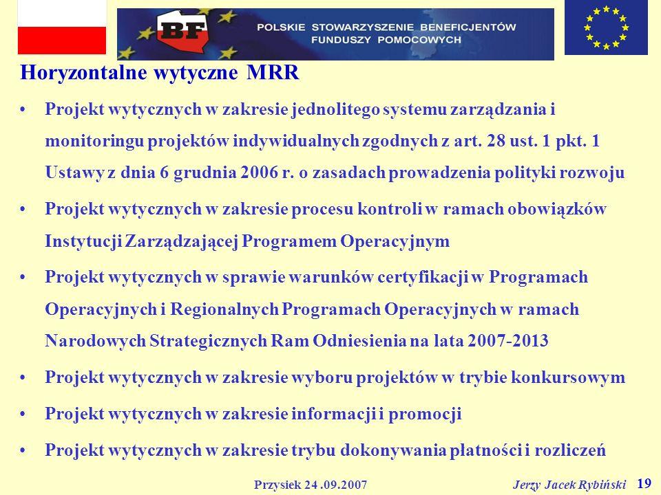Horyzontalne wytyczne MRR