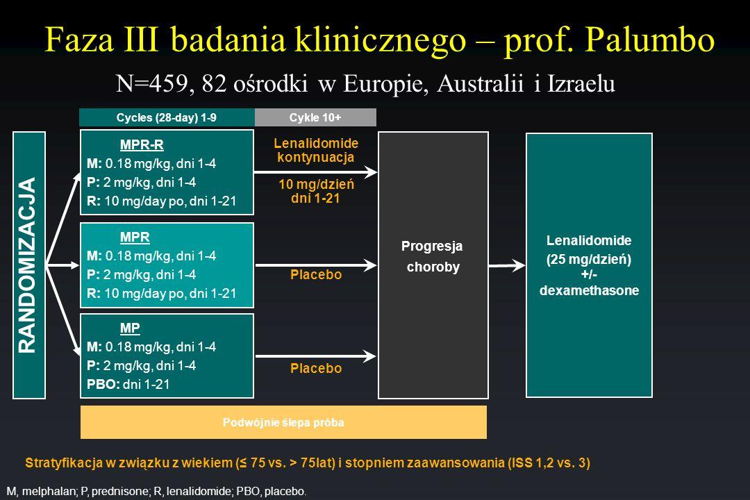 Faza III badania klinicznego – prof. Palumbo